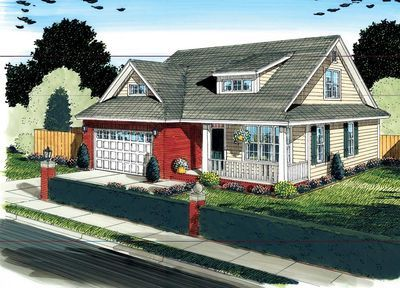 Plan 42245WM: Affordable Cottage Home Plan | Open concept house ...