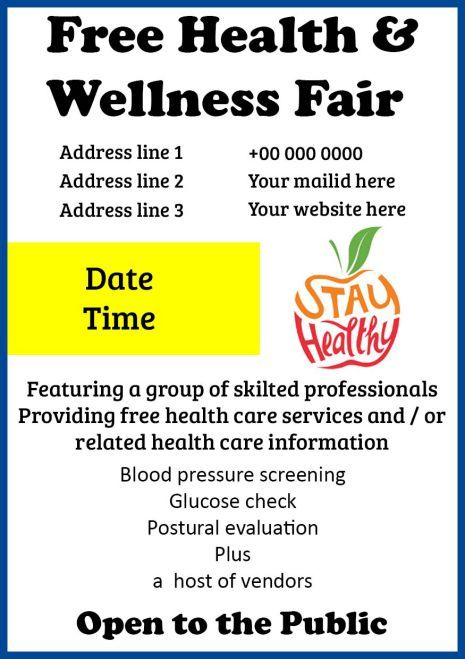 Health Fair Flyer Template Free from i.pinimg.com