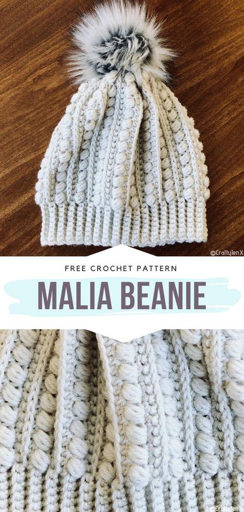 How to Crochet Malia Beanie