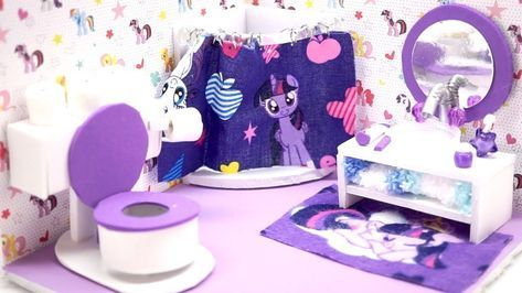 Learn How To Make This Miniature Dollhouse My Little Pony Bathroom