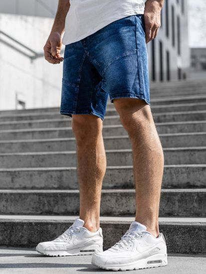 Krotkie Spodenki Jeansowe Meskie Granatowe Denley Kk107 In 2020 Gym Men Mens Denim Mens Gym Short