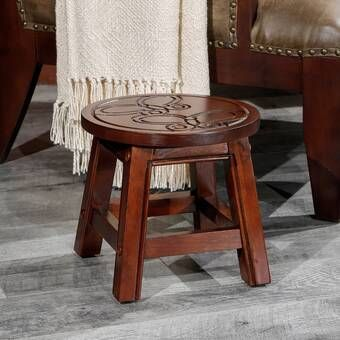 Arapaho Accent Stool Wooden Step Stool Accent Stool Step Stool
