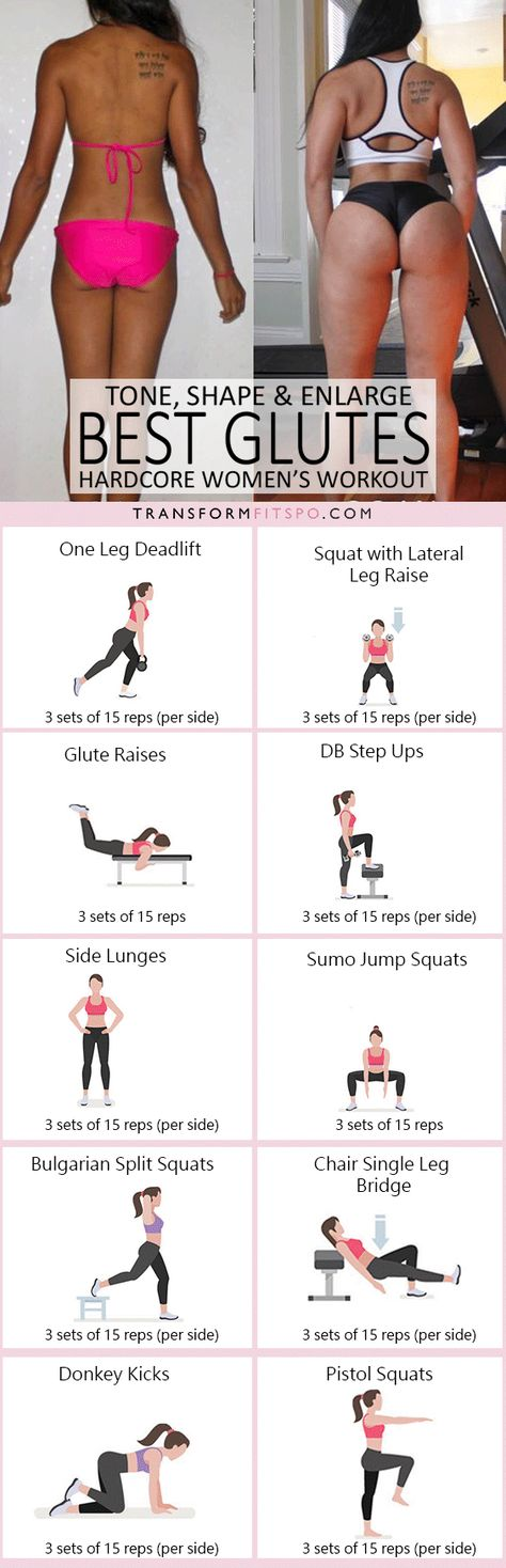 How to Get a Bigger Bum - Workout to Tone, Round and Enlarge Your Glutes