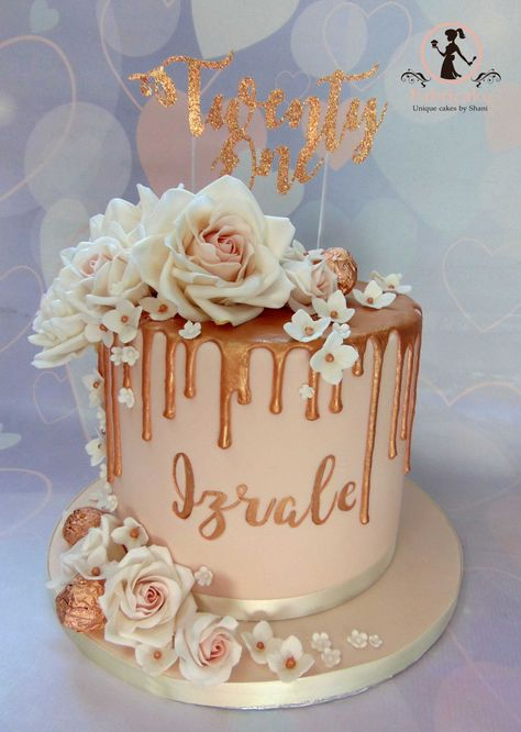 Checked from Bucket Listing Rose Gold Drip Cake Rose gold drip cake Superfoods for Wholesome Hair We 14th Birthday Cakes, Birthday Cake Roses, Sweet 16 Birthday Cake, Elegant Birthday Cakes, Beautiful Birthday Cakes, Birthday Cake Girls, 21 Bday Cake, Designer Birthday Cakes, 18th Birthday Cake Designs