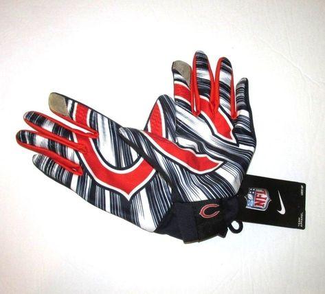 c22b36068 Nike Chicago Bears Lock Up Stadium Gloves Adult L Navy  Nike  ChicagoBears