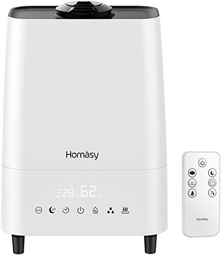 Enjoy Exclusive For Homasy 5 5l Humidifier Warm Cool Mist Humidifier Customized Humidity Remote Control Led Touch Display Sleep Mode 23db Whisper Quiet Ult In 2020 Cool Mist Humidifier Remote Control Humidifier