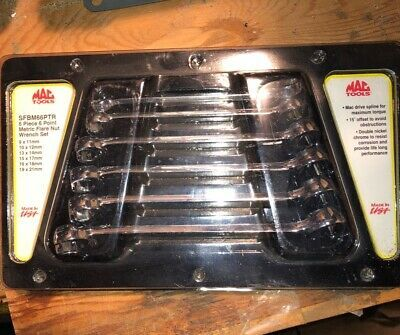 Details About Mac Tools Sfbm66ptr Metric Flare Nut Wrench Set