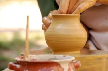A Piece Of Pottery Being Formed Out Of Clay Pottery Pottery Making Clay