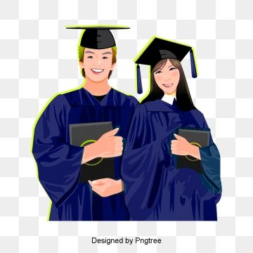 College Student Graduation Cartoon Baccalaureate Gown Hand Hand Drawn Characters Graduation Season College Student Wearing Bachelor S Gown Baccalaureate Drawn C
