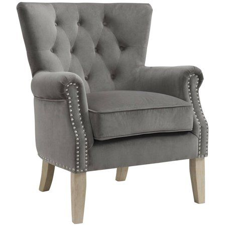 34aa8d0a1ac7da4138e2b81be6d6168e - Better Homes And Gardens Rolled Arm Accent Chair Gray