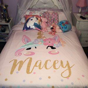 Unicorn Girls Room Unicorn Bedding Set Personalized Toddler