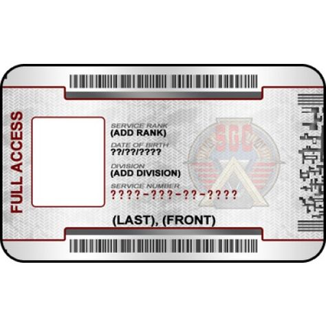 Stargate Custom ID Badge Card From the Identity Props Store - id badge template