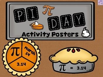 Here Is A Fun Activity For Students To Work With On Pi Day There Are Three Pi Themed Posters And A Teacher Suggestion Pag In 2020 Activities Pi Day Student Activities