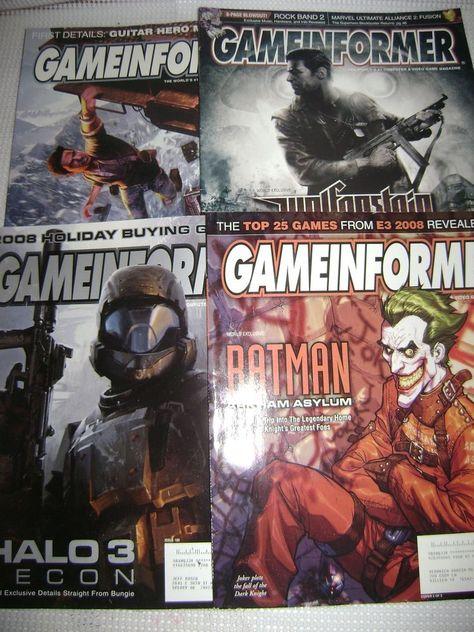 Video Game Informer Magazine Lot Of 4 Wolfenstein Batman