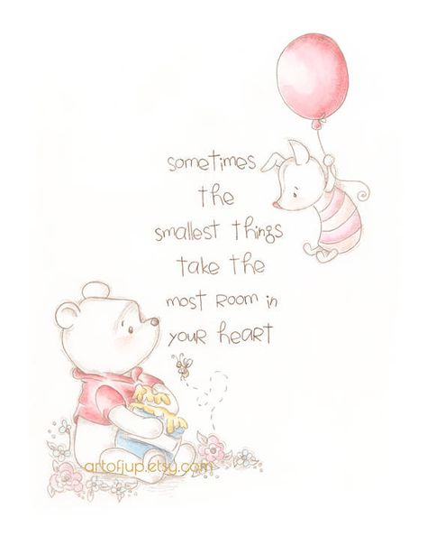Winnie the Pooh print , classic Pooh feel and quote, with a sketch like vibe and a little less color so you can hang it anywhere!! :) - 8x10 or 5x7 Disney Winnie the Pooh art print - Art print of the original crayon and watercolor painting. - Printed on Epson Velvet Fine Art paper, signed