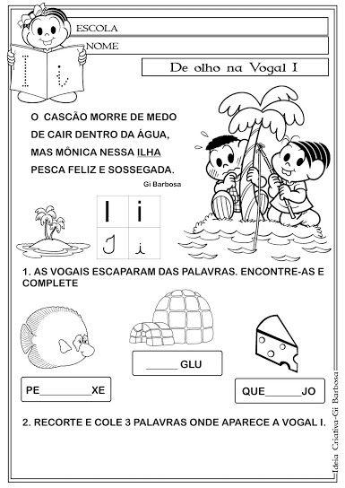 Pin Em Alfabeto Da Turma Da Monica Texto