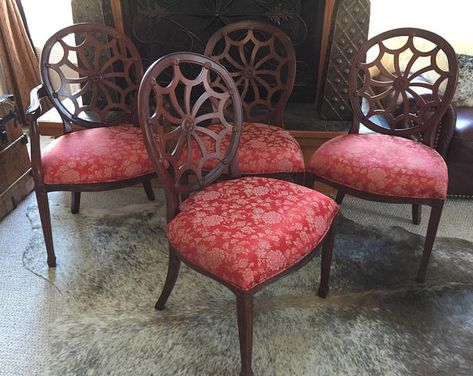 Custom Order Cowhide Antique Chair