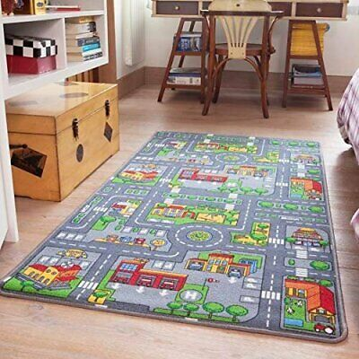 Reversible Area Rugs Road Map Farm Animal Cars Play Mat 80cm X 150cm 2 7 For Sale Online Ebay In 2020 City Rugs Childrens Rugs Road Rug