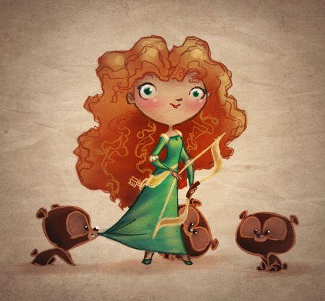 Super-adorable Brave fan art by YA author Heather Dixon