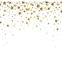 Falling Golden Stars Vector Star Background Gold Glitter Stars Textured Background