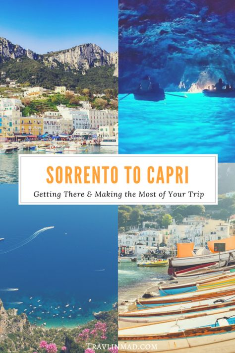 Italy - Planning a visit to Sorrento, Italy and the Amalfi Coast and want to add in a day trip to Capri? The turquoise island gem is so close you can almost touch it, and an excursion from Sorrento to Capri is easy to plan, with a small group or on your o