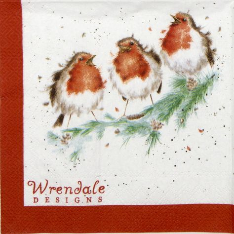 Napkin Wrendale Designs Garden Birds