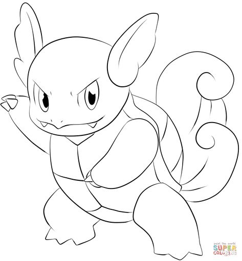 Wartortle Coloring Page Free Printable Coloring Pages Fine