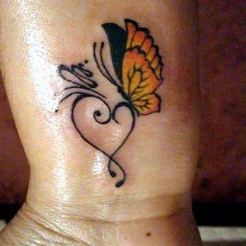 Heart Shaped Butterfly Tattoo Ideas Butterfly Wrist