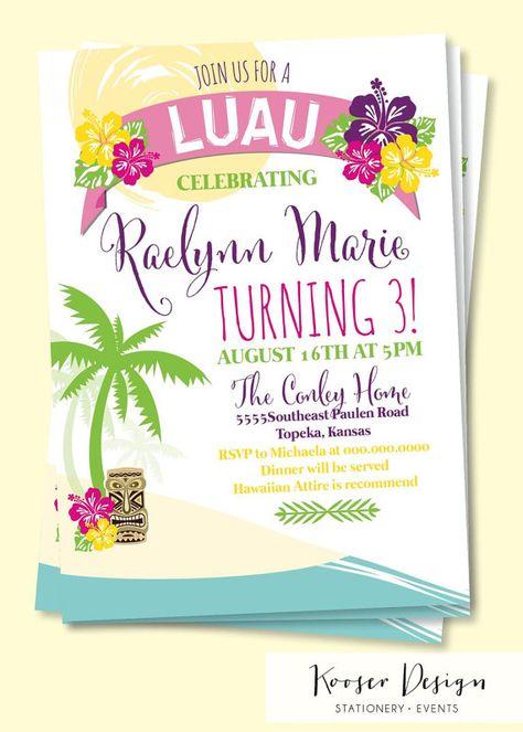 Hawaiian Party Invitations Free Printable Random Party ideas - birthday invitation card empty