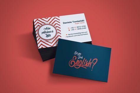 Business Card English Teacher On Student Show Teacher Business Cards Teacher Cards Business Card Maker