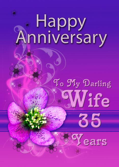 Anniversary Card For Wife Of 35 Years Card Ad Sponsored Wife Card Anniversary Anniversary Cards For Wife Anniversary Cards 41st Wedding Anniversary