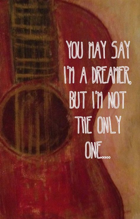 Items similar to Guitar with Beatles Quote Artwork on Etsy
