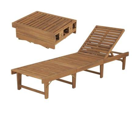 Vidaxl Klappbare Sonnenliege Massivholz Akazie Vidaxl De Sonnenliege Gartenliege Liegestuhl