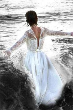 Image result for prophetic art, Bride stepping into the ocean