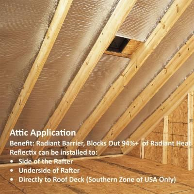 Reflectix 24 In X 25 Ft Double Reflective Insulation With Staple Tab St24025 The Home Depot Reflective Insulation Home Insulation Diy Insulation