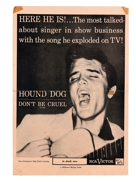 Elvis Presley 1956 Advertising Poster For Rca Singles Hound Dog And Don T Be Cruel Mandala Coloring Books Hound Dog Advertising Poster