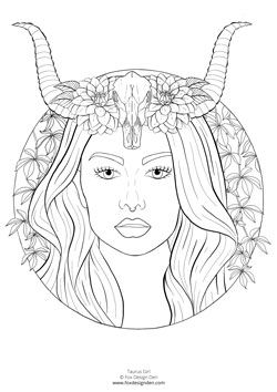 Zodiac Pisces Girl Coloring Page   Shutterstock 325965011   Coloring books,  Zodiac signs colors, Pisces color   354x250