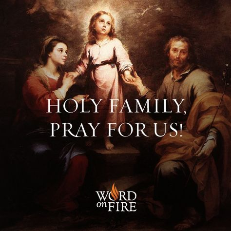 Holy Family, pray for us!  #Catholic #JesusMaryJoseph #HolyFamily #Pray