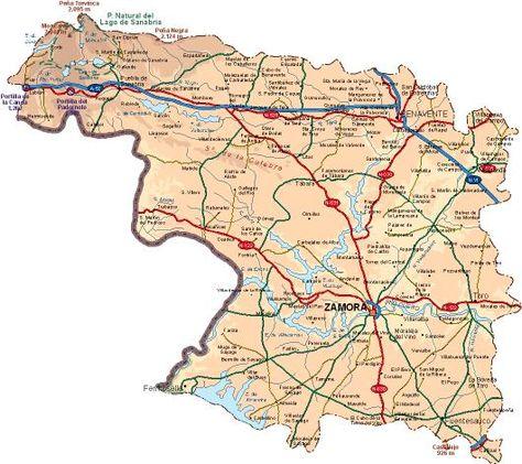 Provincia De Zamora Mapa.Pin De Silvia Moro En Pais Leones Pais Lliones Mapas