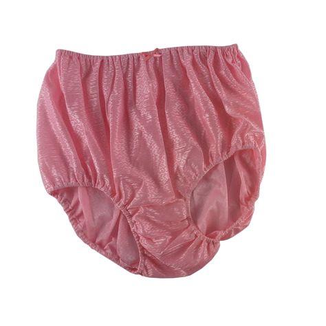 e156b803d SF11 Light Pink Silky Nylon Panties Women Vintage Granny HI-CUTS Briefs