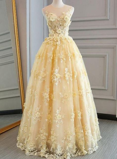 7165c5e2958 beautiful junior prom dress. beautiful junior prom dress. More information. Light  Yellow Organza Tulle Applique ...