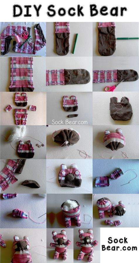 DIY Sock Bear - How to Make Your Own Teddy Bear Using A Pair of Socks!