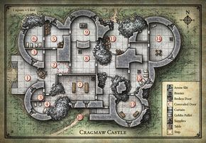 D D Cragmaw Castle Map With Images Dungeon Maps Adventure Map