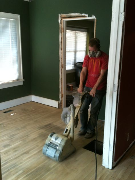 Sanding And Refinished Hardwood Floors Aft Removing Carpet Flooring Hardwood Floors