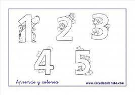 Imagen De Los Numeros Del 1 Al 5 Para Colorear Buscar Con Google Fichas De Matematicas Fichas Aprendizaje De Los Numeros