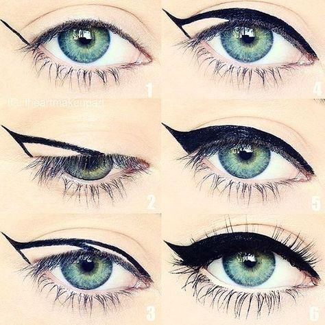 Eye Make-up Award profitable Mascara Eyeliner Forehead Gel Alexa Chung Making Eyes for Eyeko Beauty Make-up, Beauty Hacks, Beauty Tips, Black Beauty, Brow Gel, Perfect Makeup, Perfect Eyeliner, Gorgeous Makeup, Perfect Cat Eye
