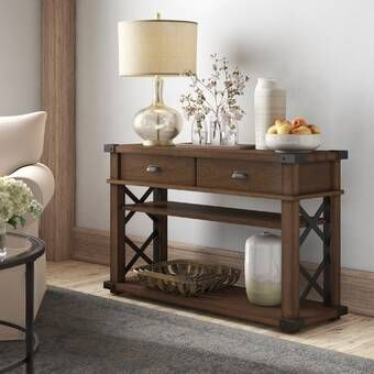 Charlton Home Seapine 50 Console Table Wayfair In 2020 Wood Console Table Console Table Wood Console