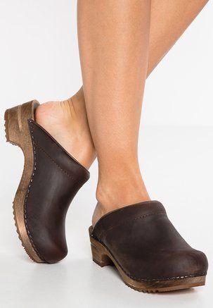 CHRISSY OPEN Clogs antique brown | Clogs, Boho shoes