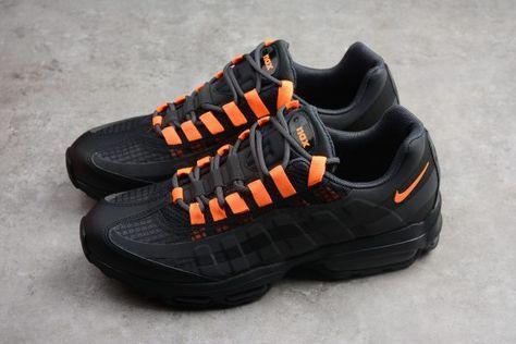 mens nike air max 95 black and orange