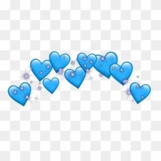 Heart Crown Emoji Blue Tumblr Sticker Adesivos Png Heart Transparent Png In 2021 Heart Emoji Stickers Blue Heart Emoji Heart Emoji